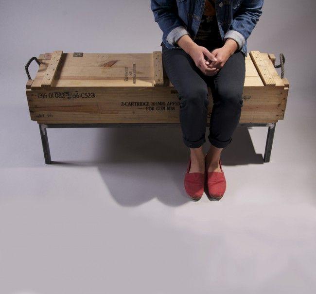 1000 id es sur le th me banc de caisse sur pinterest cageots caisses de lait et bancs. Black Bedroom Furniture Sets. Home Design Ideas