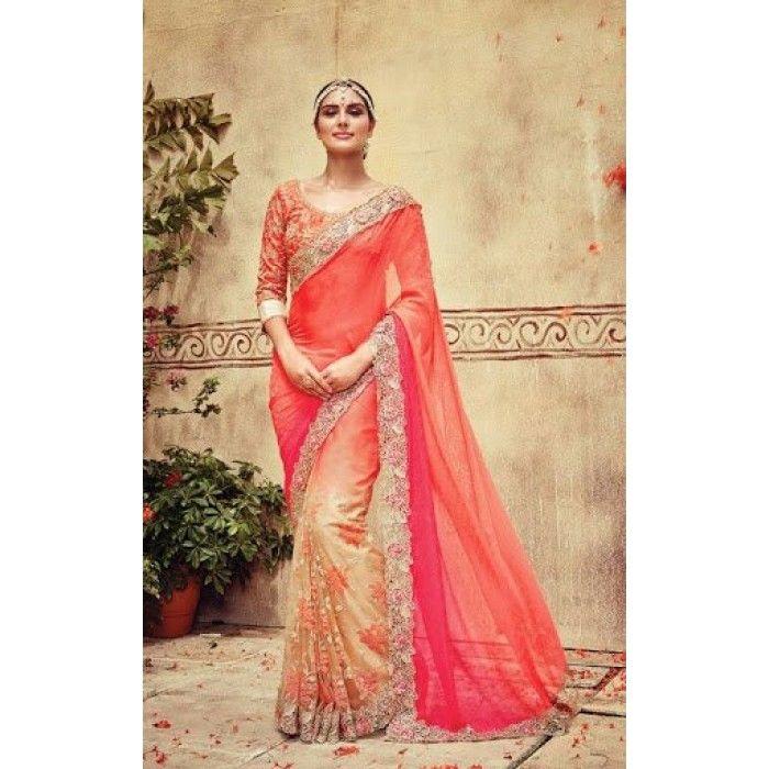 Lustrous Trendy Designer Saree ( D.No.613 )