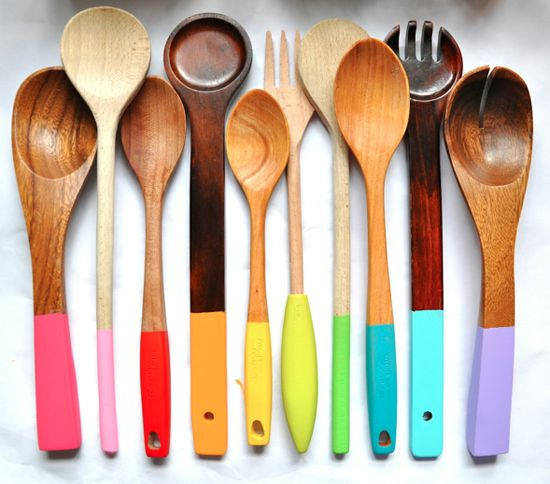 Half Painted utensils