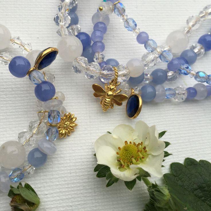 Mommy & baby matching gemstone bracelets. See at devingem.com IG @devin.gem