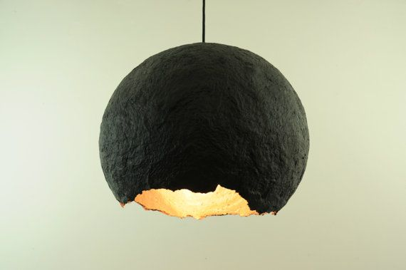 17 best ideas about modern pendant light on pinterest for Make paper mache lamp shade
