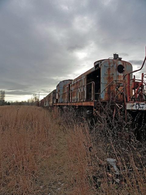 Abandoned Train - New York.
