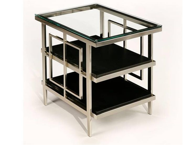 Shop For Matrix Chair Side Table, And Other Living Room Accent Tables At Star  Furniture TX. Polished Nickel Frames With Lay On Glass Tops And Lower Shelf  Of ...