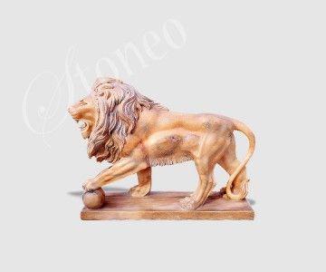 Król lew - rzeźba kamienna