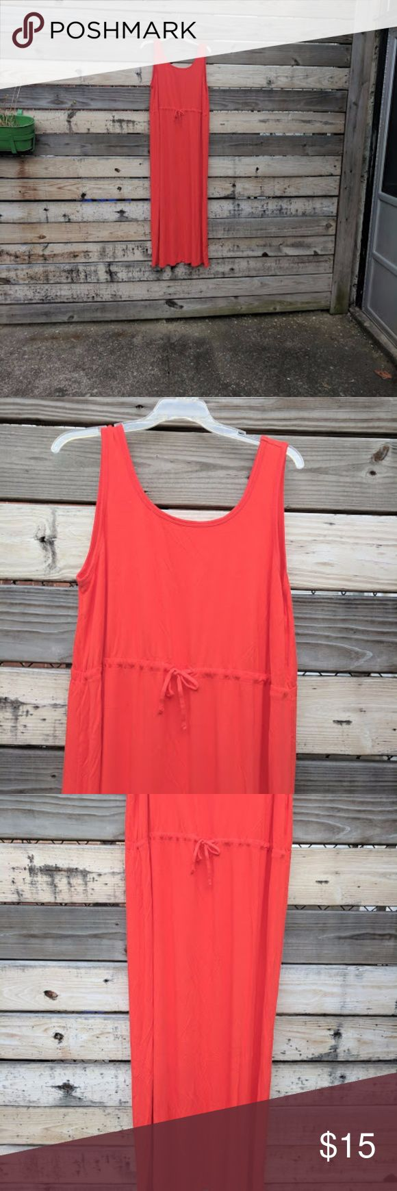 NWOT Old Navy Red Maxi Dress Size 1X Solid red tank maxi dress with a drawstring waist. Never worn or washed. Old Navy Dresses Maxi