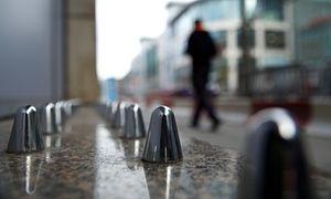 Spikes installed outside Selfridges in Manchester.