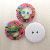 25Y43101  22*22mm button high quality printed polyester ribbon 25 pieces, DIY handmade materials, wedding gift wrap