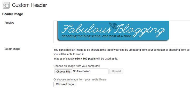where to find header size for your blog theme