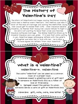 Teach your students about the history of Valentine's Day and define a valentine...pin now, read later.