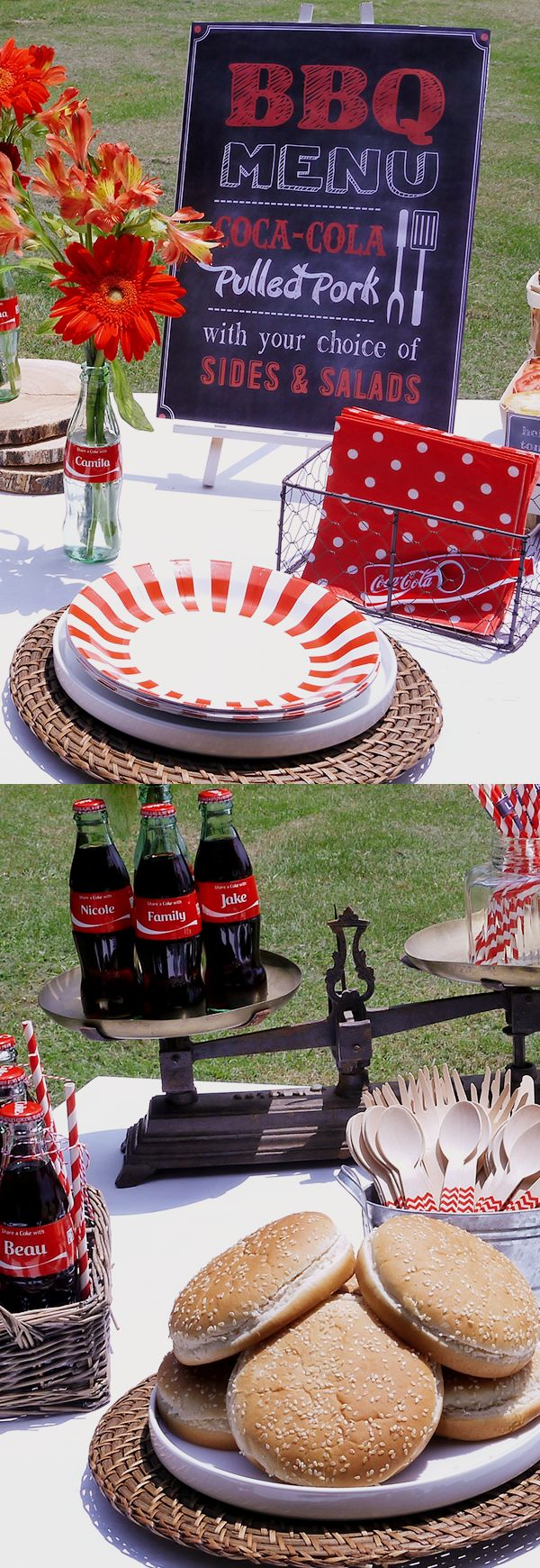 Take your tailgating party to the next level with great DIY party ideas and Coca-Cola themed decorations from our partner Cristina. Show us your epic tailgating party board by repinning this!