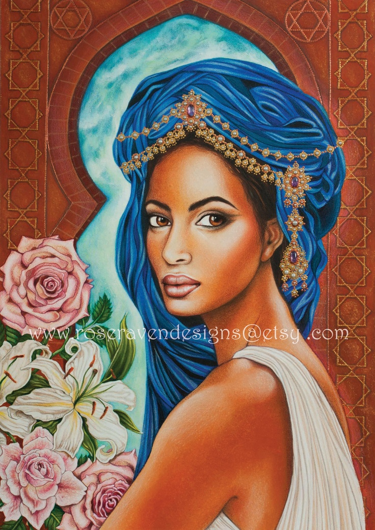 The 'Queen of Sheba' print by rose raven
