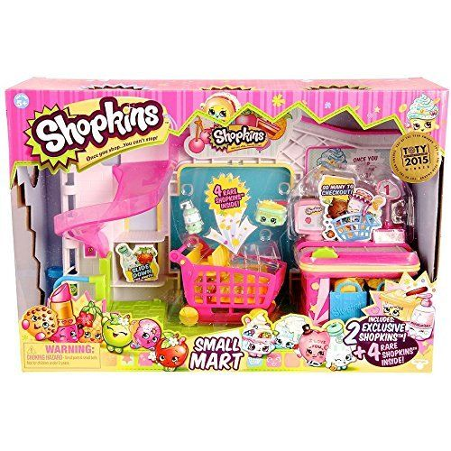 Shopkins Small Mart Supermarket Exclusive 6 figure playset by Shopkins via https://www.bittopper.com/item/shopkins-small-mart-supermarket-exclusive-6-figure-playset/