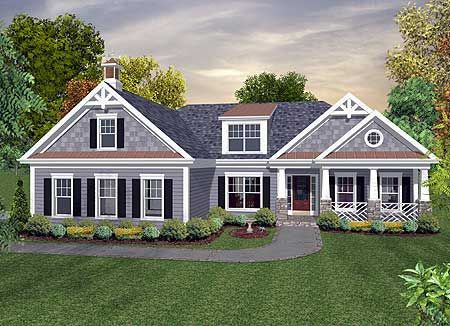 Plan 20097GA Inviting Craftsman Ranch House Plans Side Walkway And