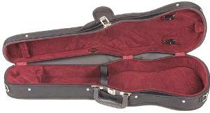 Bobelock Student 1007 Black/Wine 3/4 Violin Case by Bobelock. $87.00. Bobelock quality for a small price. This is a 3/4 violin size case with black exterior and wine velour interior without suspension. It also has an attached canvas cover with D-rings, an extra D-ring on the back and a neck restraint.