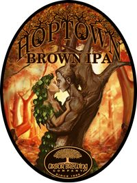 Arbor Brewing Company Hoptown Brown IPA A robust brown ale that drinks like an IPA. Enticing citrusy hop aromas lead into a rich and complex palate of caramelly, nutty, and toasty malts perfectly balanced by a big full hop flavor.  Beer Advocate 84 points The Produce Station - Beer - Ann Arbor, MI