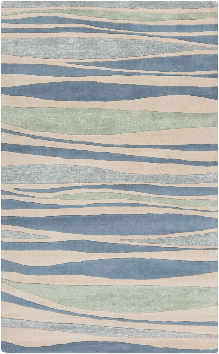 Surya Lighthouse Coastal Area Rug Blue, Green