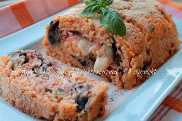 Rotolo di riso farcito con melanzane: un'idea per utilizzare il riso lesso avanzato.Primo piatto gustoso e mediterraneo. Ricetta semplice,squisita,economica