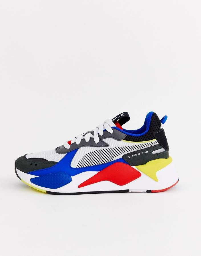 Puma Rs-X Toys blue and red sneakers