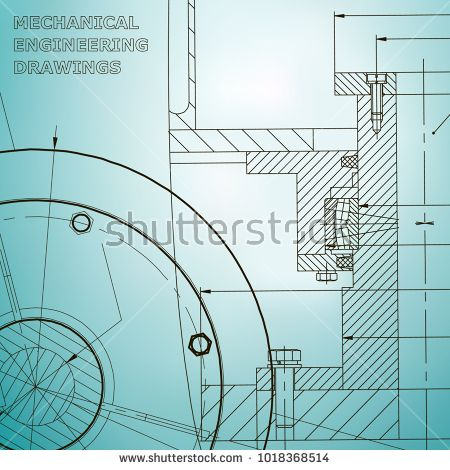 Backgrounds of engineering subjects. Technical illustration. Mechanical engineering. Light blue #bubushonok #art #bubushonokart #design #vector #shutterstock #technical #engineering #drawing #blueprint  #technology #mechanism #draw #industry #construction #cad