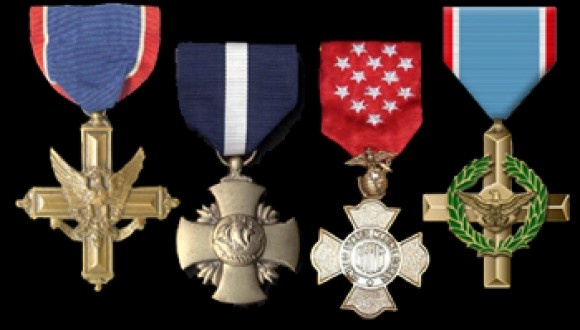 Distinguished Service Cross, Navy Cross, Air Force Cross, Brevat Medal