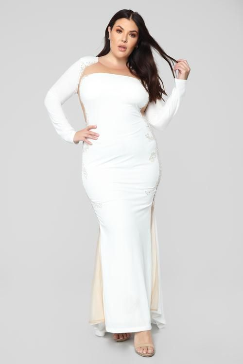 Plus size denim smock dress