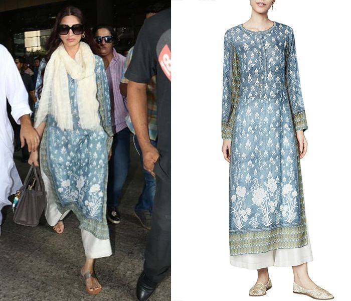 Pernia's Pop-Up Shop is with Armaan Bhati. 2 hrs · GET THE LOOK! Sonali Bendre Behl looks ethnically modern in Anita Dongre's Vintage Blue Digitally Printed Kurta. Check out the look now! #sonalibendrebehl #anitadongre #vintageblue #digitallyprinted #kurta #getthelook #celebritystyle #indianfashion #indiandesigner #shopnow #perniaspopupshop #happyshopping