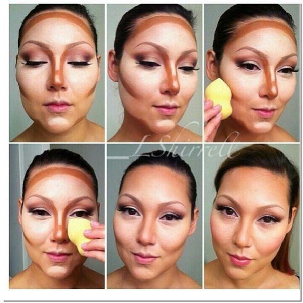 Pin by Mirla on Contorno de cara, perfilar rostro, maquillaje con ...
