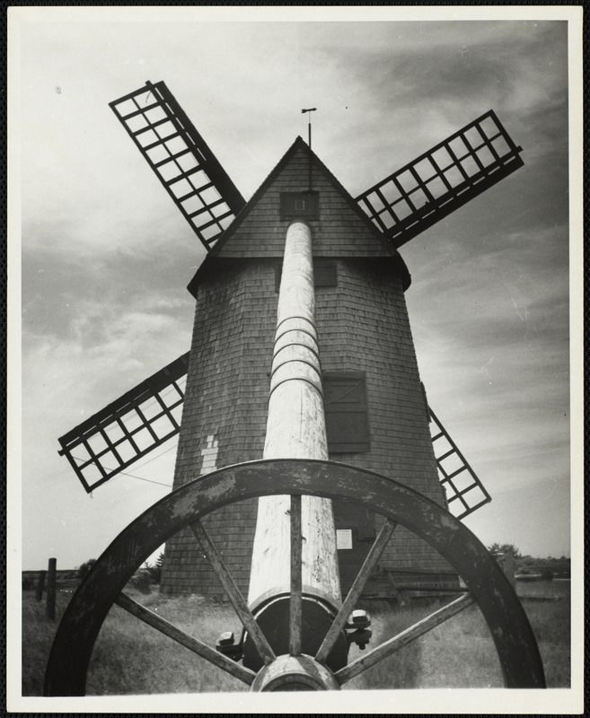 The Old Mill (windmill, grist mill), Nantucket c. 1930s.   https://www.digitalcommonwealth.org/search/commonwealth:1j92gh880
