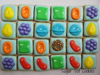 Sugar Dot Cookies: Candy Crush Sugar Cookies with Royal Icing