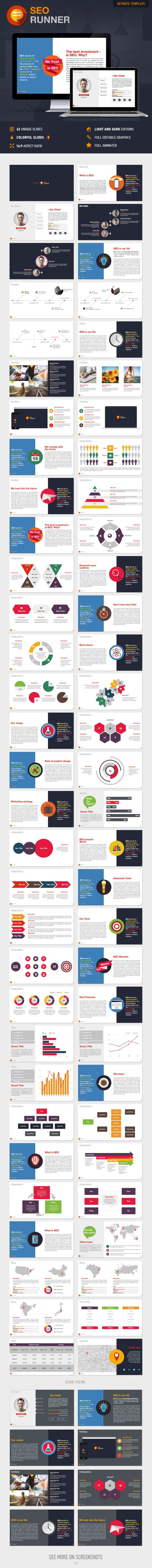 SEO Runner Keynote Presentation Template | Buy and Download: http://graphicriver.net/item/seo-runner-keynote-presentation-template/9554217?ref=ksioks