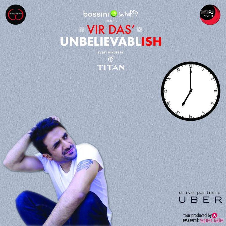 """Better late than never"" said no one ever. We don't want you missing even one minute of the show Bangalore, be there on time. See you all at 7 today, Chowdiah Memorial Hall! ‪#‎UnbelievableTour‬ ‪#‎Bangalore‬ ‪#‎BeThere‬ ‪#‎WeBringIt‬"