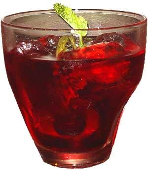 Hennessy City Drink    romã suco de cranberry   suco natural de limão