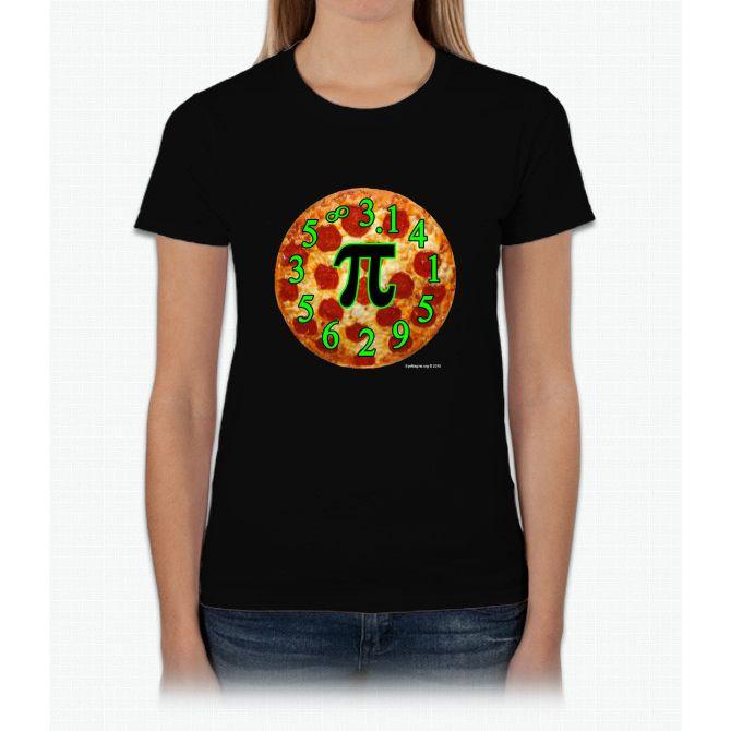 Pizza Pi Womens T-Shirt