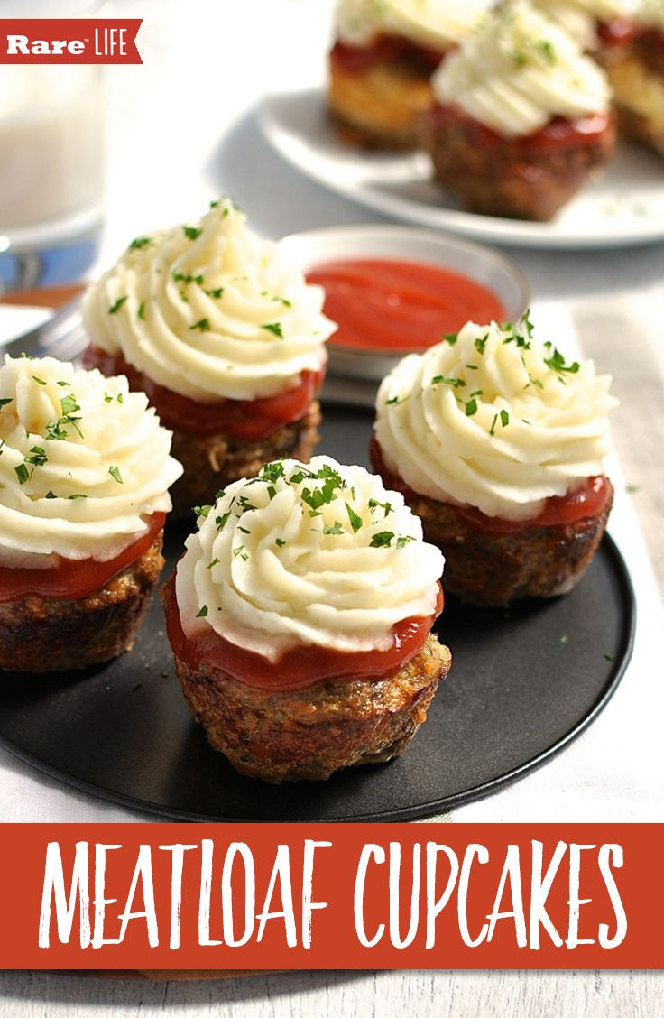 Might seem crazy, but it's a great way to sneak vegetables into your kids' meals. Who can resist when it looks like a cupcake? #dessert #cupcakes #savory #meatloaf #dinner #kidsmeals #partymeals #appetizers