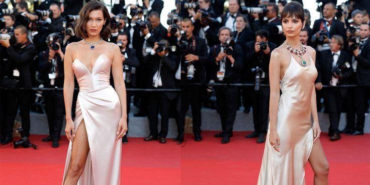 Bella Hadid and Emily Ratajkowksi Wear the Same Cannes Dress - HarpersBAZAAR.com