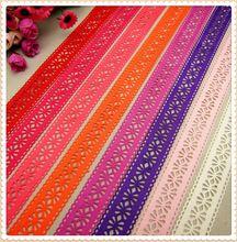 MD62718 8 farbe mischen heißen verkauf 28mm hohl Blumen feste Ripsband, Kleidung zubehör, DIY handgemachten materialien(China (Mainland))