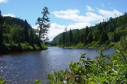The Agawa River is a river in Algoma District, Ontario, Canada which empties into Agawa Bay on Lake Superior at the community of Agawa Bay, south of Wawa, Ontario.