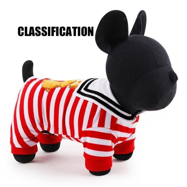 PET Dogs Clothes Hot Sale Stripe dog hoodies for chihuahua Pet Dog Clothing winter Coats For Dogs XXS-L Free Shipping USA