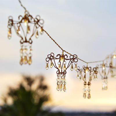 String Lights With Chandelier : Chandelier LED String Lights Dana and Tom 2015 Pinterest Camps, The o jays and String lights