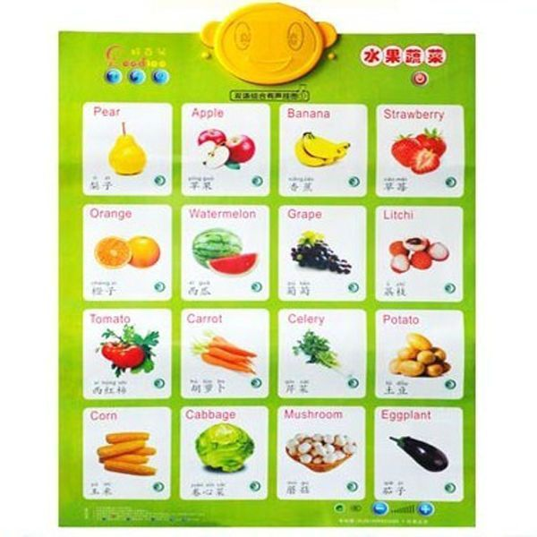 fruit chart for kids with name