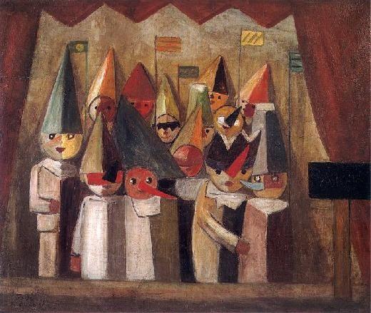 Tadeusz Makowski | Teatr dziecięcy / The Child's Theatre, oil on canvas, 1931, National Museum Warszawa