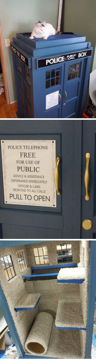 TARDIS Cat Fort