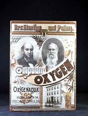 1875 very rare Compound Oxygen Fluid, Oxygenaqua, wooden box Dr.Starkey & Palen!!! medical quackery - bidding starts at $24.99: Medical, Ad Quackery, Vintage, Box Dr Starkey, Patent Medicine