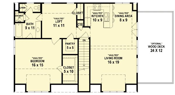Vaulted Ceilings Throughout - 58549SV | Cottage, Northwest, Narrow Lot, Photo Gallery, 1st Floor Master Suite, Butler Walk-in Pantry, CAD Available, Drive Under Garage, Loft, PDF, Sloping Lot | Architectural Designs