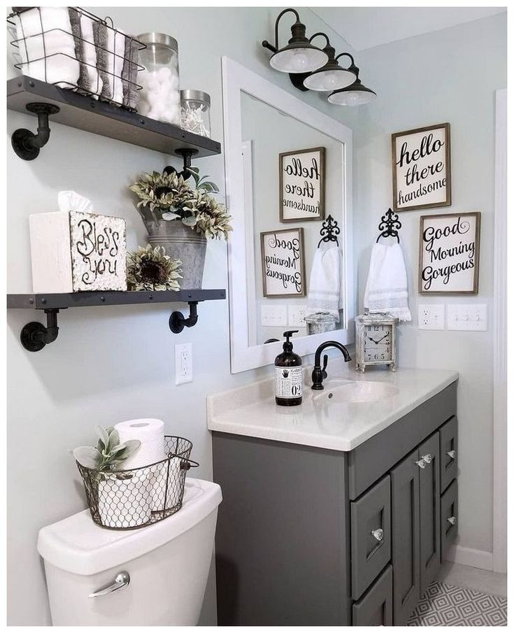 Quick And Easy Small Bathroom Decorating Tips Farmhouse Bathroom