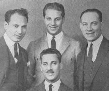 The Marx Brothers, sans costumes, 1924 (Harpo, Zeppo, Chico, and Groucho at the bottom)