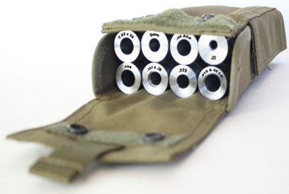 Gear up shotgun gauge adapter system.