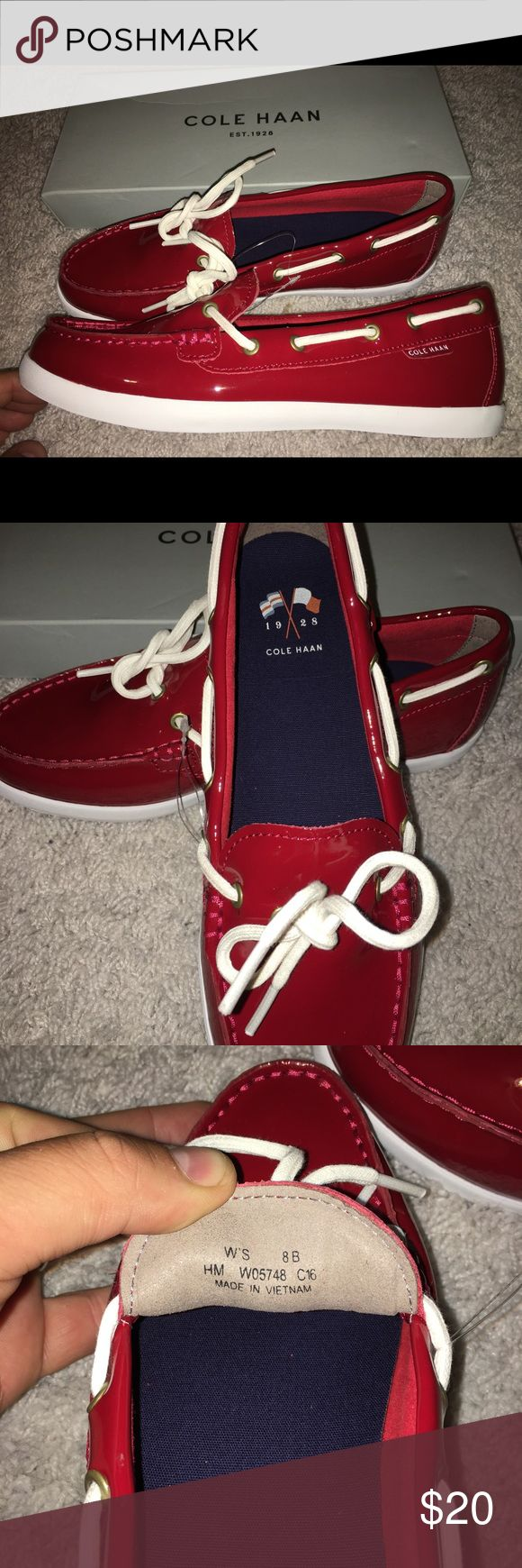 Cole Hann shoes brand new Red in color people call them water or boat shoes Cole Haan Shoes Flats & Loafers
