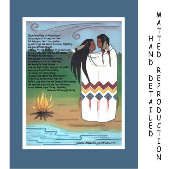 Cherokee Wedding Blessing 8x10 Dye Painting Print On