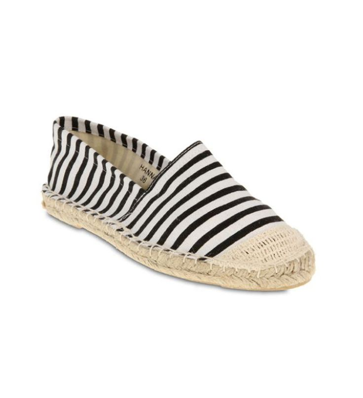 FFC New York Hanna Espadrilles Black and White